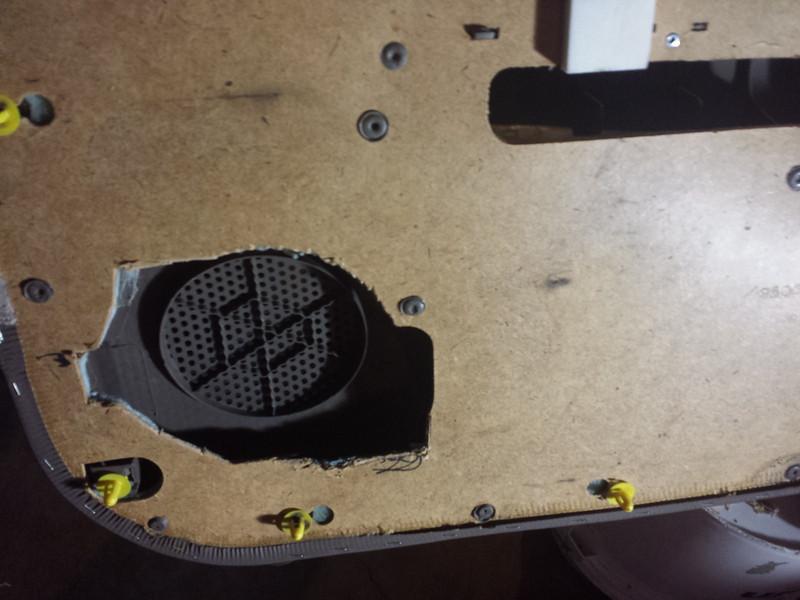 Rear view of door panel