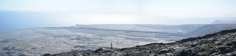 Lava Flows to the Sea Panorama