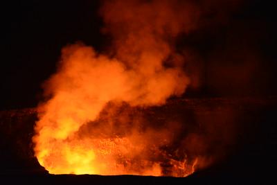 Lava Glow at Halema'uma'u Crater
