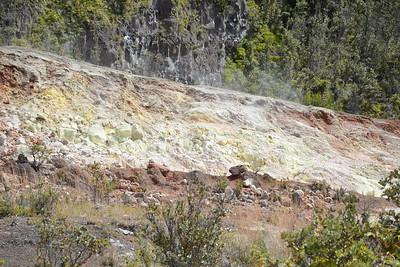 Sulfur-coated Hillside