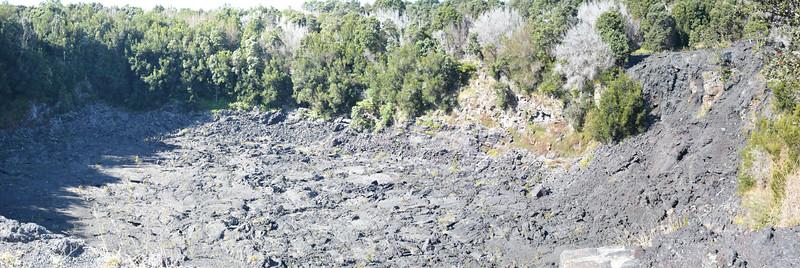 Lua Manu Collapse Crater Panorama