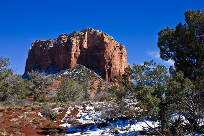 Sedona - Courthouse Butte w/Snow #1