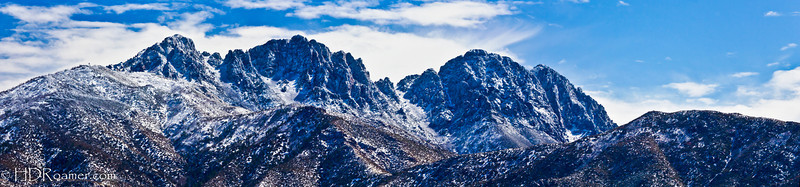 Four Peaks w/Snow Pano 2 - Tonto National Forest