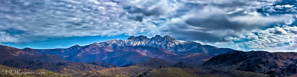 Four Peaks w/Snow Pano - Tonto National Forest