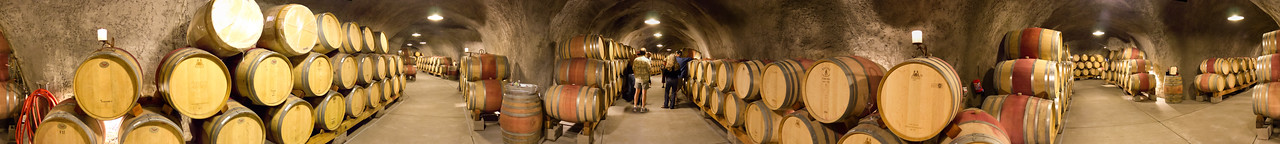 Wine anyone! A full 360 degree view inside the caves of Pride Mountain Vineyards. An excellent tour if you get the chance.