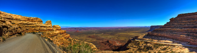 Moki Dugway, a view from near the top.