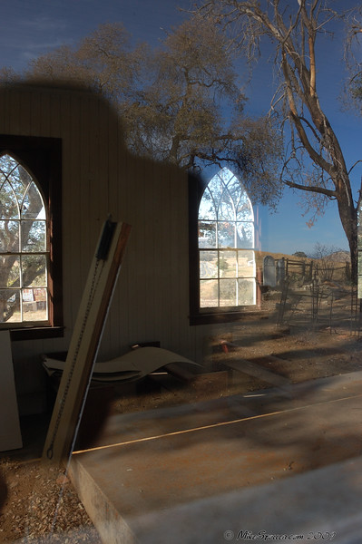 Reflection effect taking photo through window.