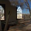 Reflection effect taking photo through window.