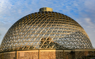 Close up Desert dome at Henry Doorly Zoo Omaha Nebraska