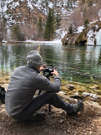 On the Shores of Hanging Lake, CO