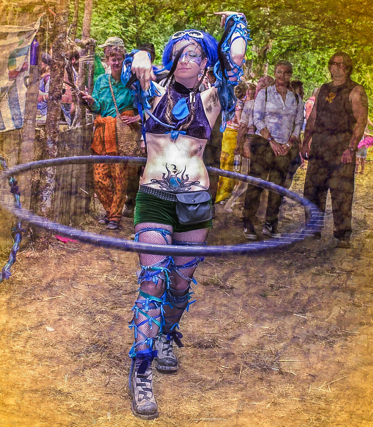 Faith Hooping at the Junction © Geoffrey Squier Silver, All Rights Reserved.