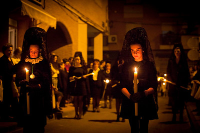 Semana santa, village of Alquerias, Spain