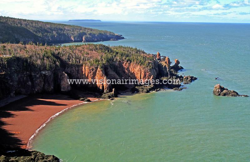 Squally Point, Cape Chignecto, Bay of Fundy, Nova Scotia, Canada