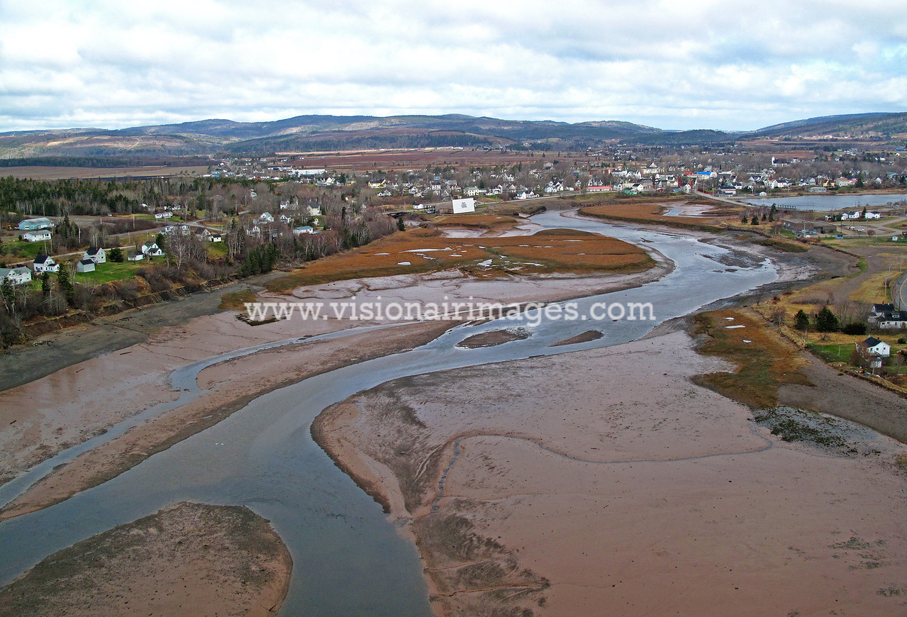 Parrsboro Harbour, Low Tide, Bay of Fundy, Nova Scotia, Canada