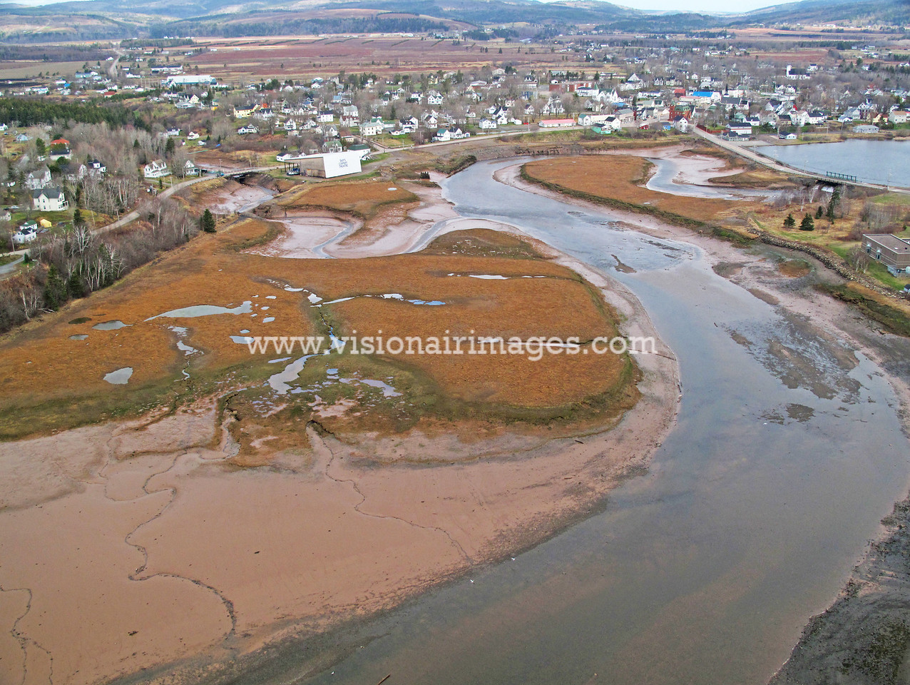 Parrsboro Harbour, Low Tide, Bay of Fundy, Ships Company Theatre, Nova Scotia, Canada