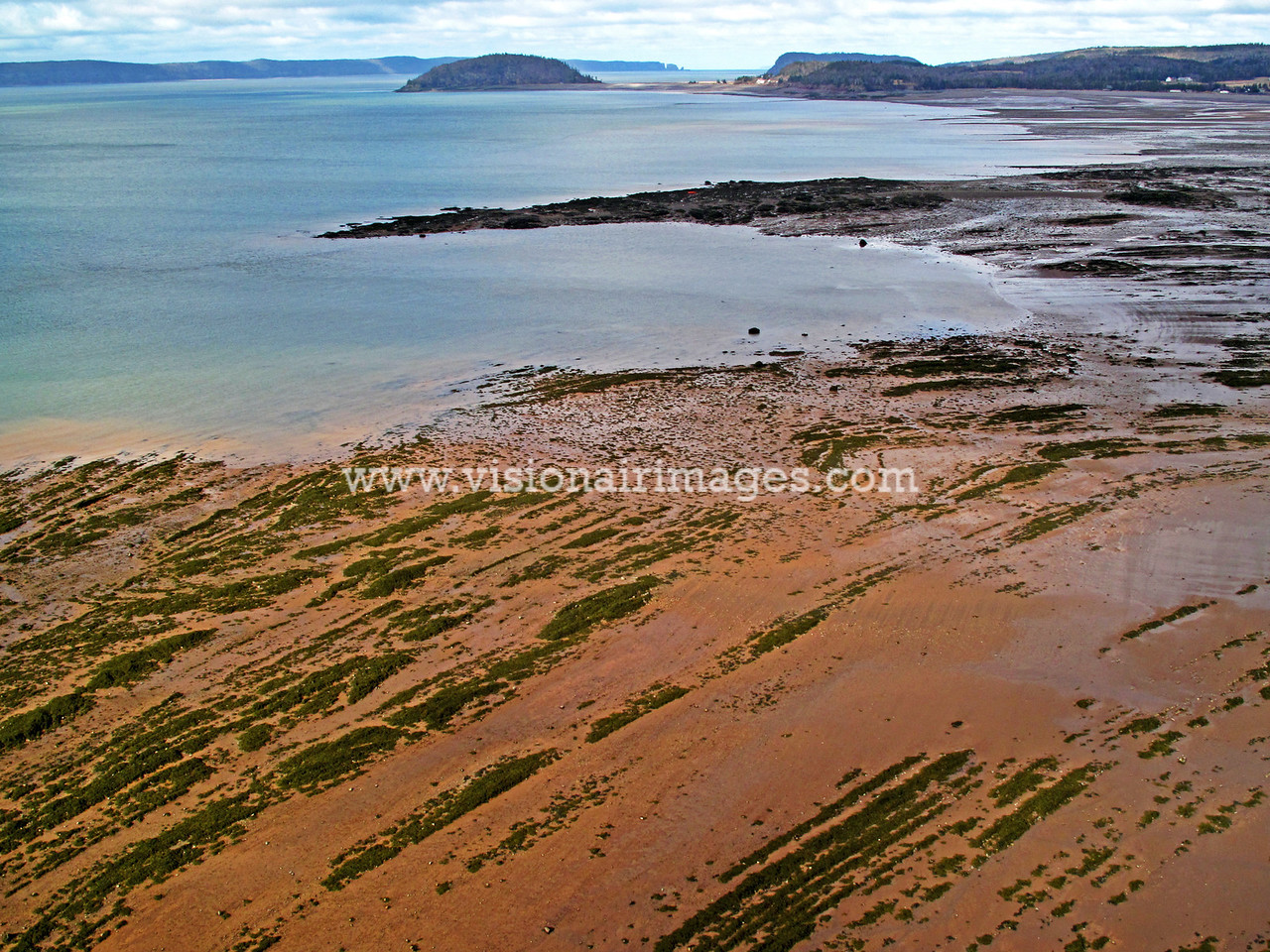 Riverside Beach, Parrsboro, Bay of Fundy, Low Tide,  Nova Scotia, Canada