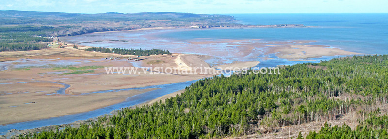 Applie River, Chignecto Bay, Low Tide, Bay of Fundy, Nova Scotia, Canada
