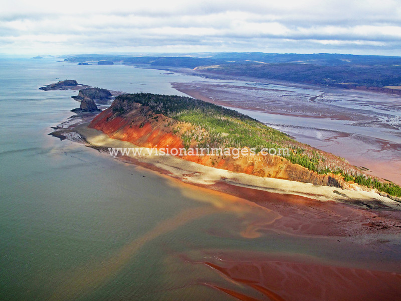 Five Islands, Bay of Fundy, 'Not Since Moses Race' site, Nova Scotia, Canada