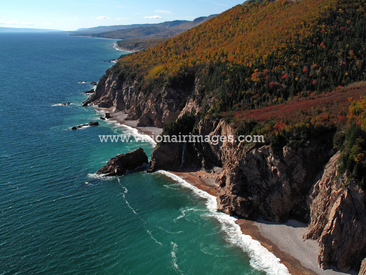 Cape Smokey, Aerial Image, Cliffs, Cape Breton, Nova Scotia, Canada