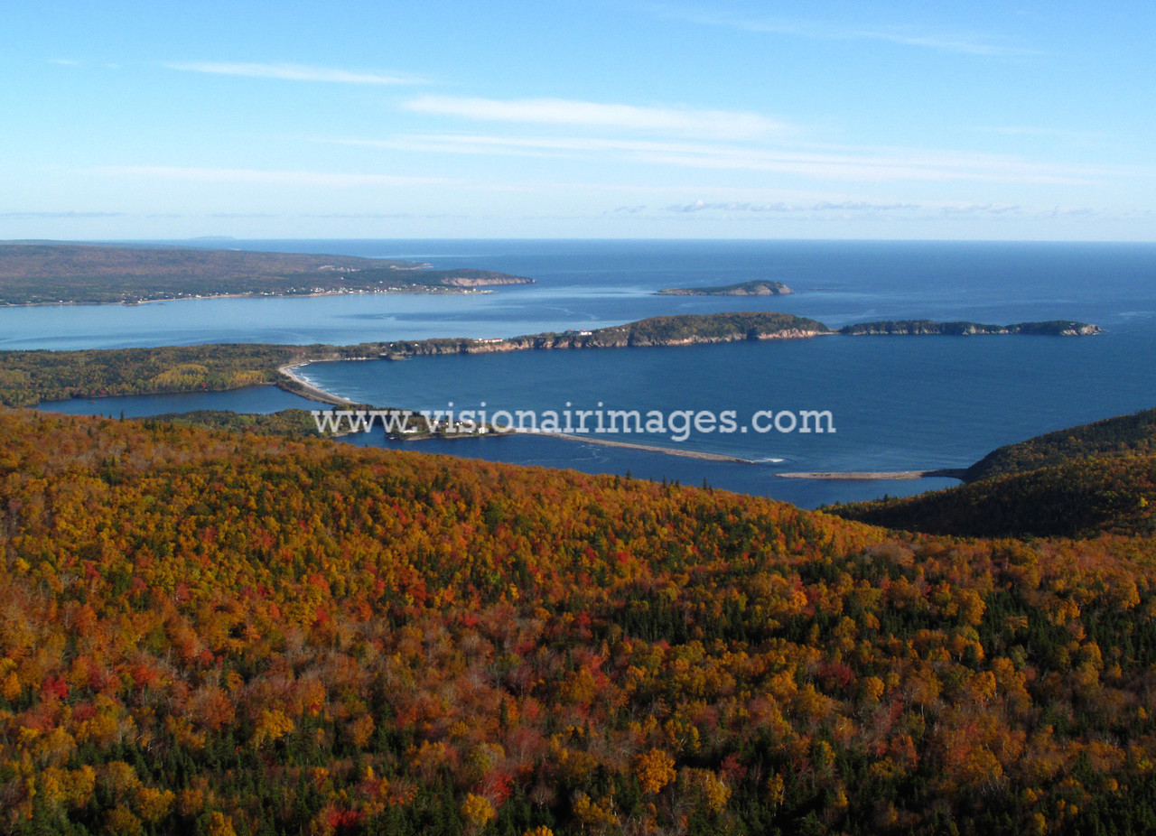 Ingonish Aerial, Cabot Trail, Cape Breton Highlands National Park, Cape Breton, Nova Scotia, Canada