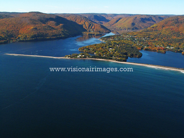Ingonish Beach Aerial, Cabot Trail, Cape Smokey, Cape Breton Highlands National Park, Cape Breton, Nova Scotia, Canada