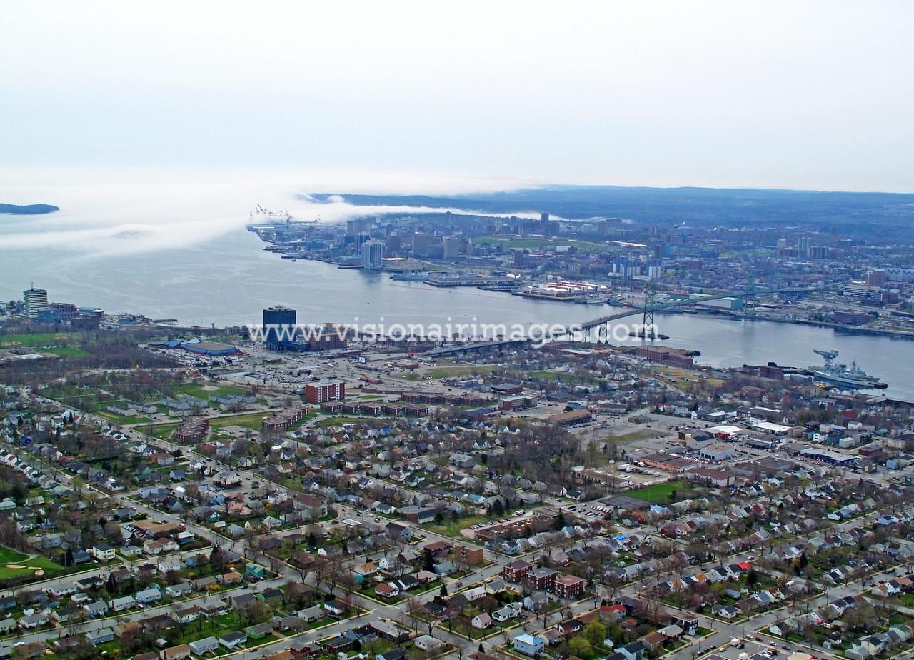 Dartmouth, Halifax Harbour, Fog, Nova Scotia, Canada