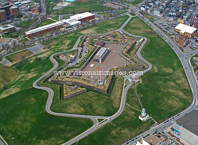 Hollis Street, South End, Halifax, Nova Scotia, Canada, Halifax Citadel, Town Clock, Centennial Pool, Citadel High School Aerial