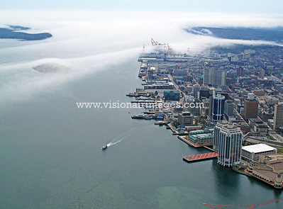 Halifax , Nova Scotia, Canada, Halifax Harbour, Halifax Waterfront, Fog, Ferry