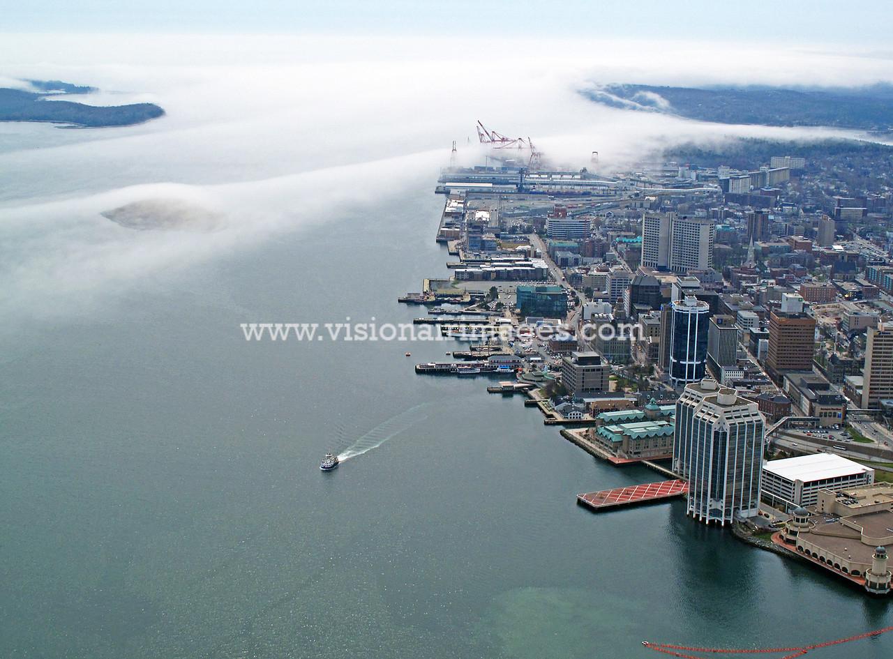 Halifax , Nova Scotia, Canada, Halifax Harbour, Halifax Waterfront, Fog, Ferry