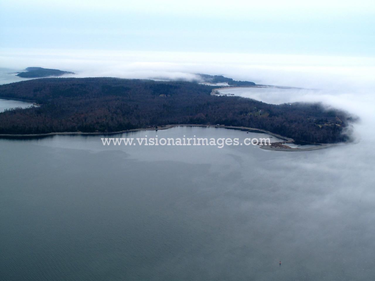 McNabs Island, Halifax Harbour, Fog, Halifax, Nova Scotia, Canada