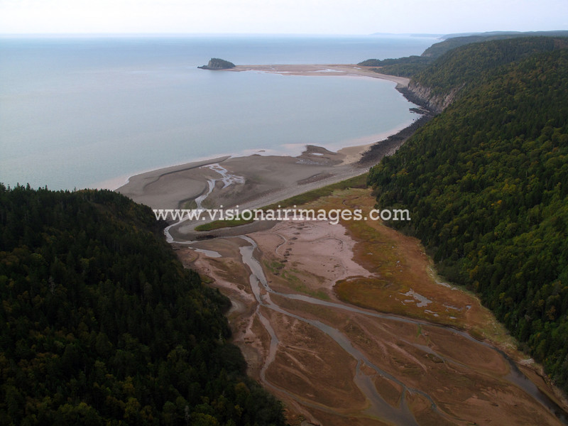 Fundy National Park, Aerial, Fundy Shore, near Alma, New Brunswick, Canada