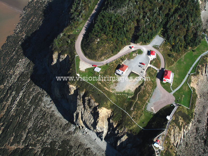 Cape Enrage, Cape Enrage Lighthouse, Aerial, Alma, Nova Scotia, Canada