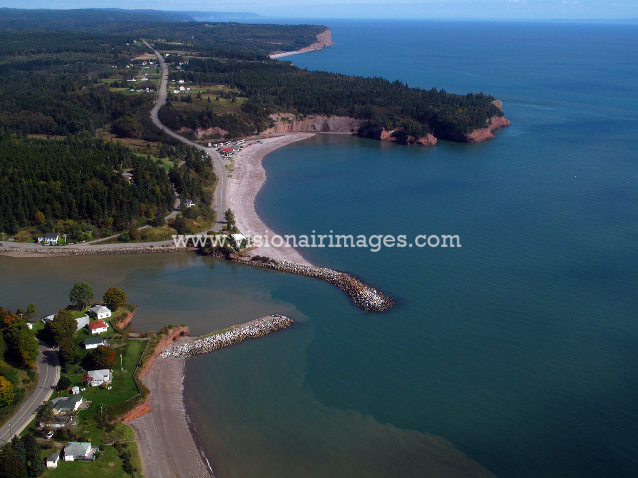 St. Martins, St. Martins Aerial, near Saint John, New Brunswick, Canada
