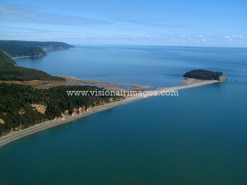 Near Fundy National Park, Aerial, Fundy Shore, Sussex, New Brunswick, Canada