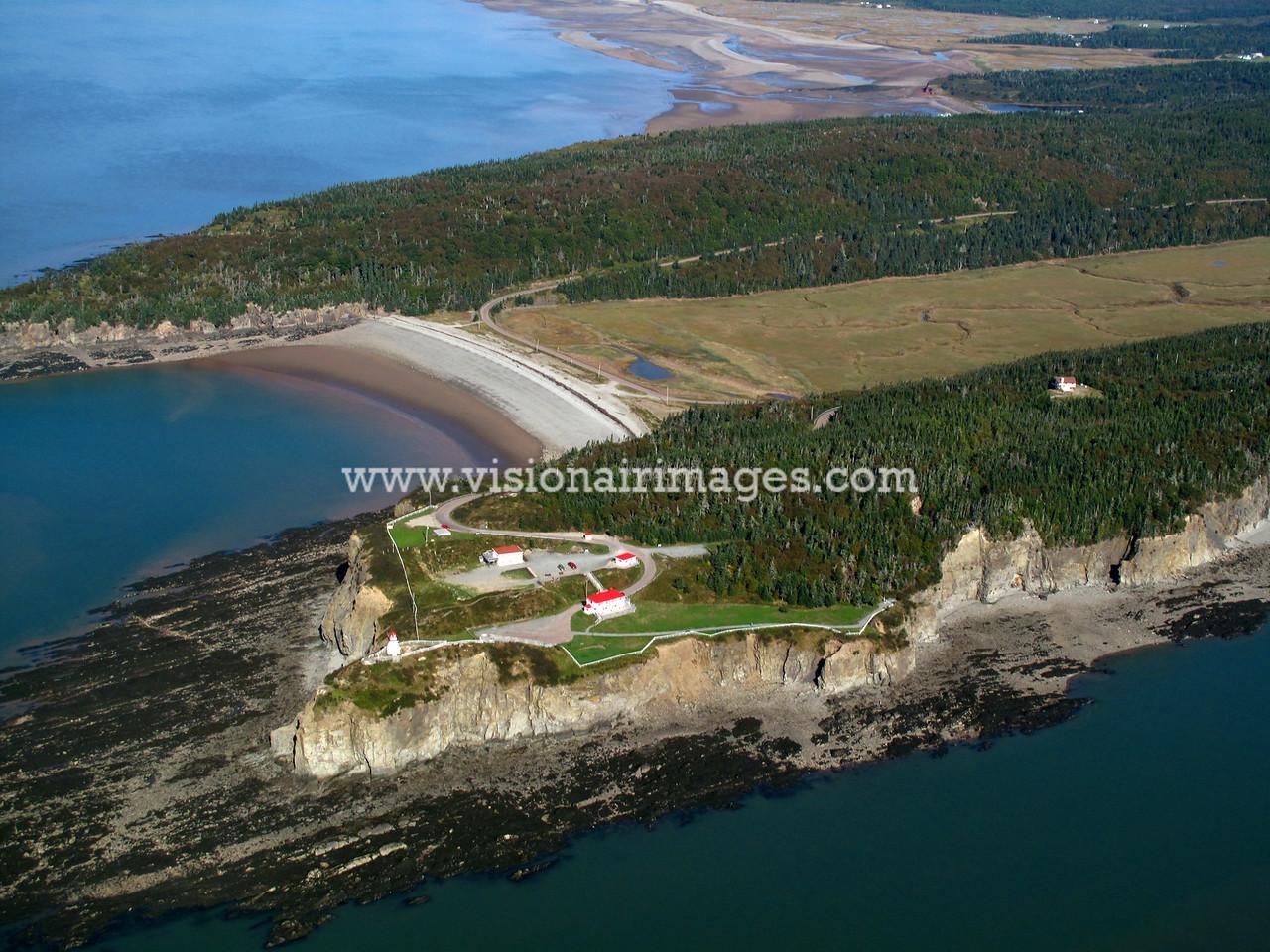 Cape Enrage, Cape Enrage Lighthouse, Aerial, Alma, Nova Scotia, Canada