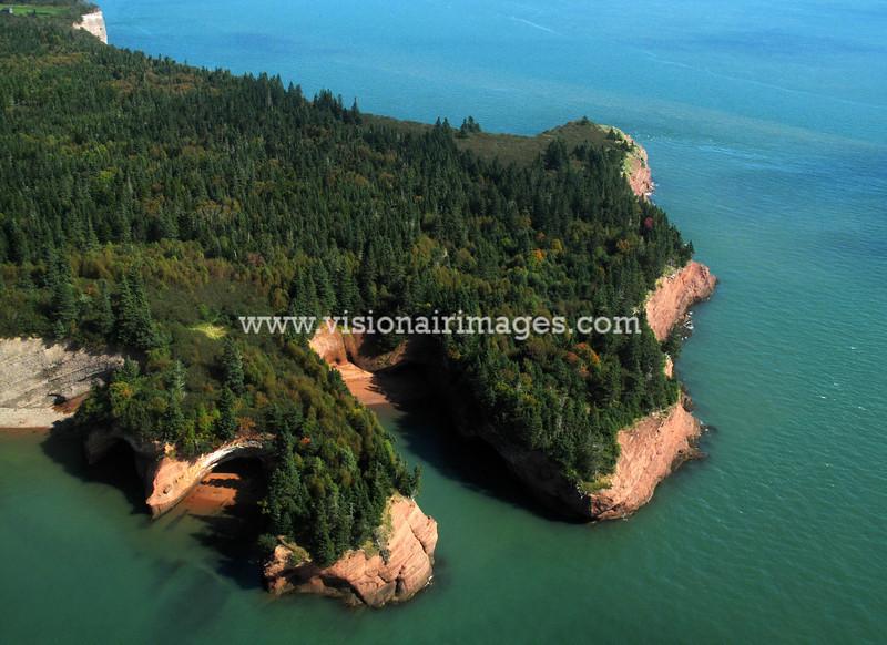St. Martins, St Martins Caves, St. Martins Aerial, near Saint John, New Brunswick, Canada
