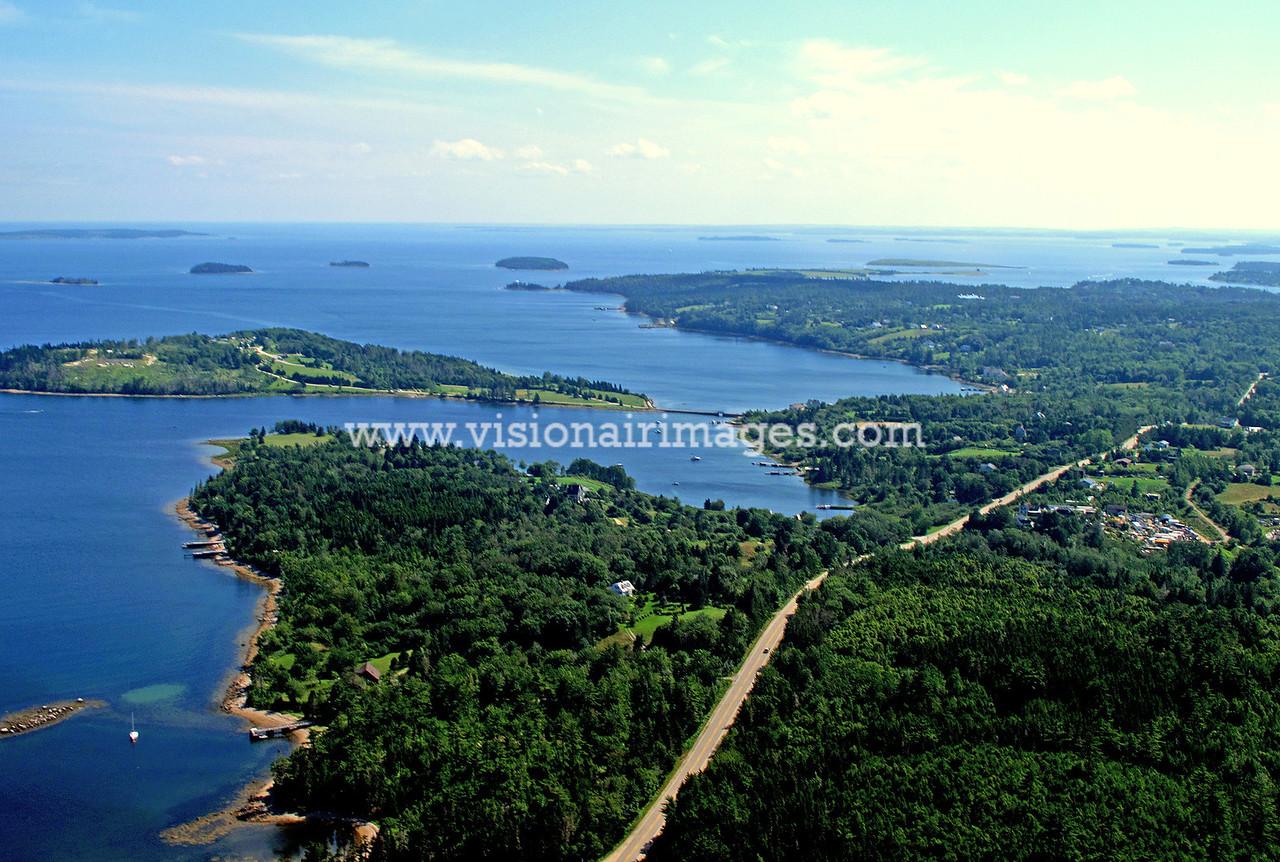 East River, Mahone Bay, Chester, Graves Island, Lighthouse Route, Nova Scotia, Canada