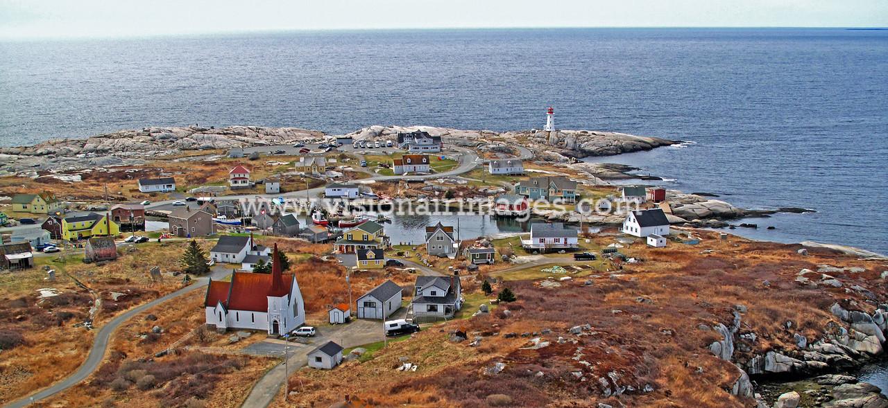 Peggy's Cove, Lighthouse, Aerial, Fishing Village,Prospect Road, 333, Halifax, Nova Scotia, Canada