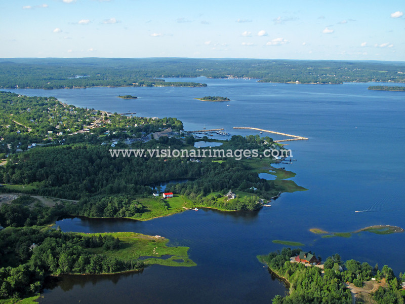 Western Shore, Mahone Bay, Chester Basin, Nova Scotia, Canada, Aerial