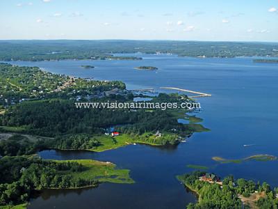 Western Shore, Mahone Bay, Chester Basin, Nova Scotia, Canada, Aerial