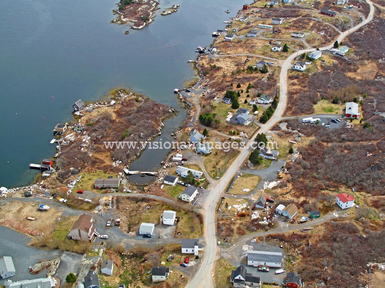 West Dover, Near Vertical Aerial, Fishing Village, Halifax, Nova Scotia, Canada