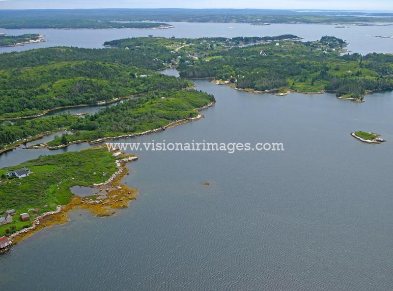West Dover, Peggy's Cove, Prospect, Shad Bay, Lighthouse Route Aerial, Nova Scotia, Canada