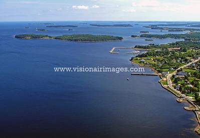 Western Shore, Mahone Bay, Oak Island, Chester Basin, Aerial, Coastal, Nova Scotia, Canada