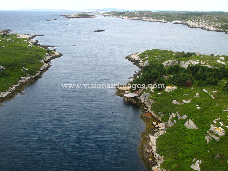 West Dover, Peggy's Cove, Prospect, Shad Bay, Lighthouse Route Aerial, Nova Scotia, Canada
