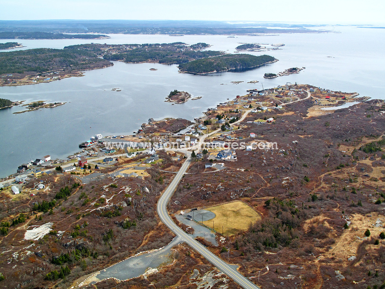 West Dover, Peggy's Cove Area, Coastal Aerial, Route 333, Prospect Road, Halifax, Nova Scotia, Canada