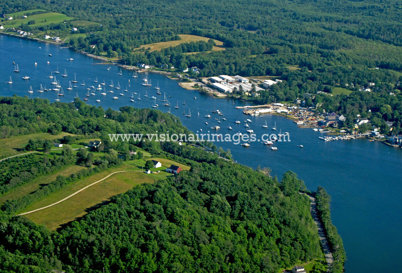 Mooring Field in Mahone Bay during the Wooden Boat Festival, Summer, 2009