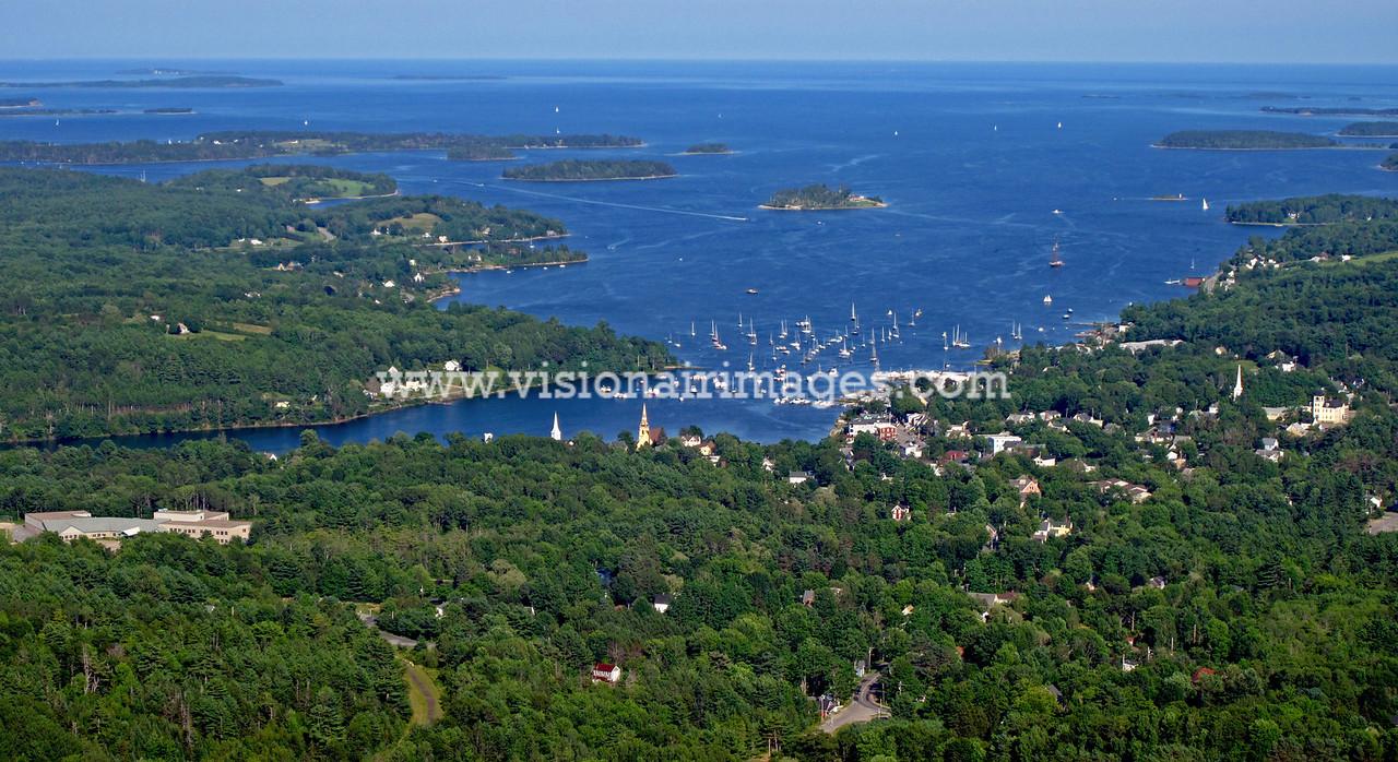 Mahone Bay, Townsite, Wooden Boat Festival, Mahone Bay Aerial, Lighthouse Route, Nova Scotia, Canada