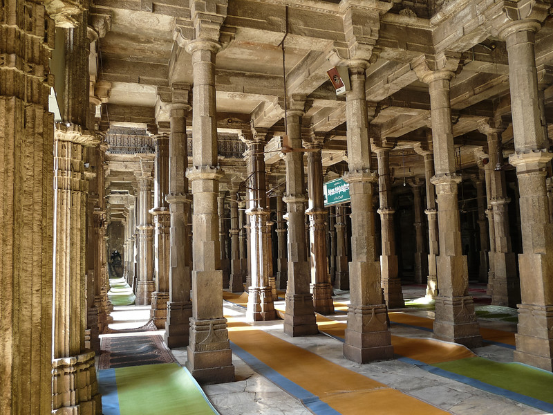 Pillars Inside Jama Masjid, Ahmedabad