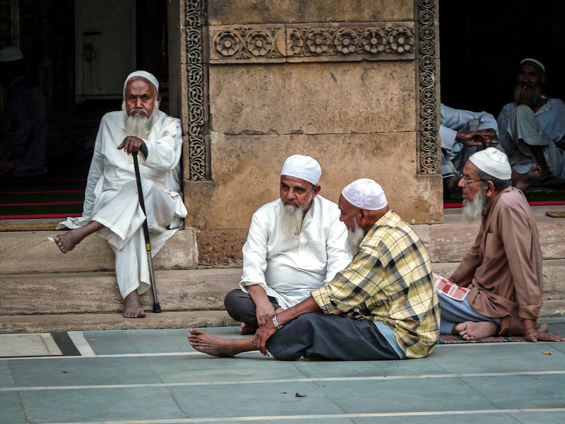 The Gray Beards, Old Town Mosque, Ahmedabad, India