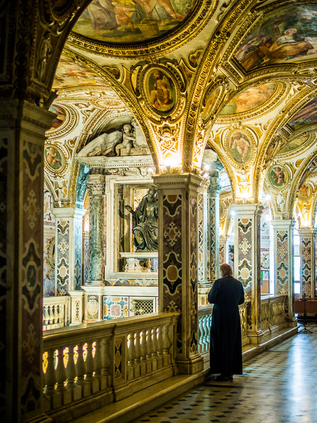 Priest Observing the Duomo Crypt, Salerno